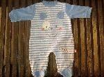 Pijama entero algodon oso azul