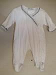 pijama algodon calado volante cruzado bco gris