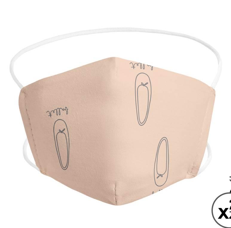 set 2 mascarillas higiénicas reutilizables con filtro extraíble