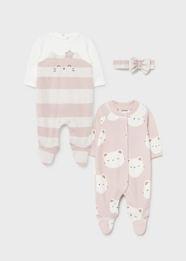 Pijama entero gatos