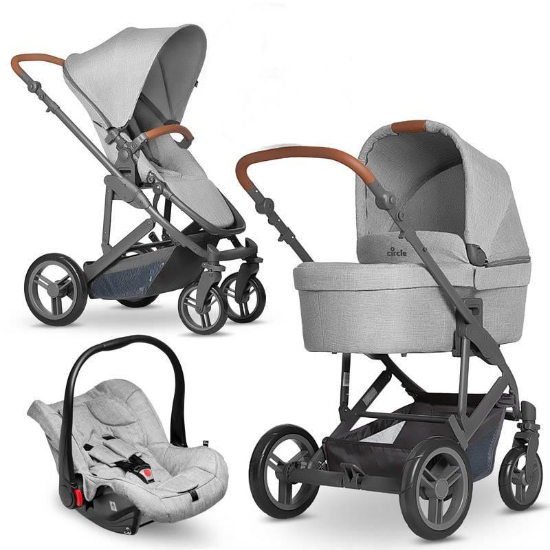 coche trio CATANIA woven grey