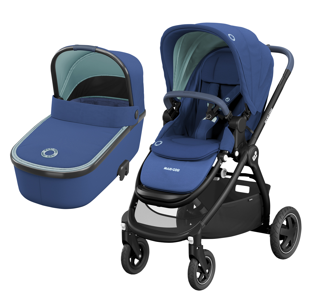 Maxicosi  ADORRA coche duo con cuco ORIA  Essential Blue con CABRIOFIX de REGALO