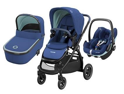 Maxicosi ADORRA coche trio con cuco ORIA y PEBBLE PRO  I-Size Essential Blue