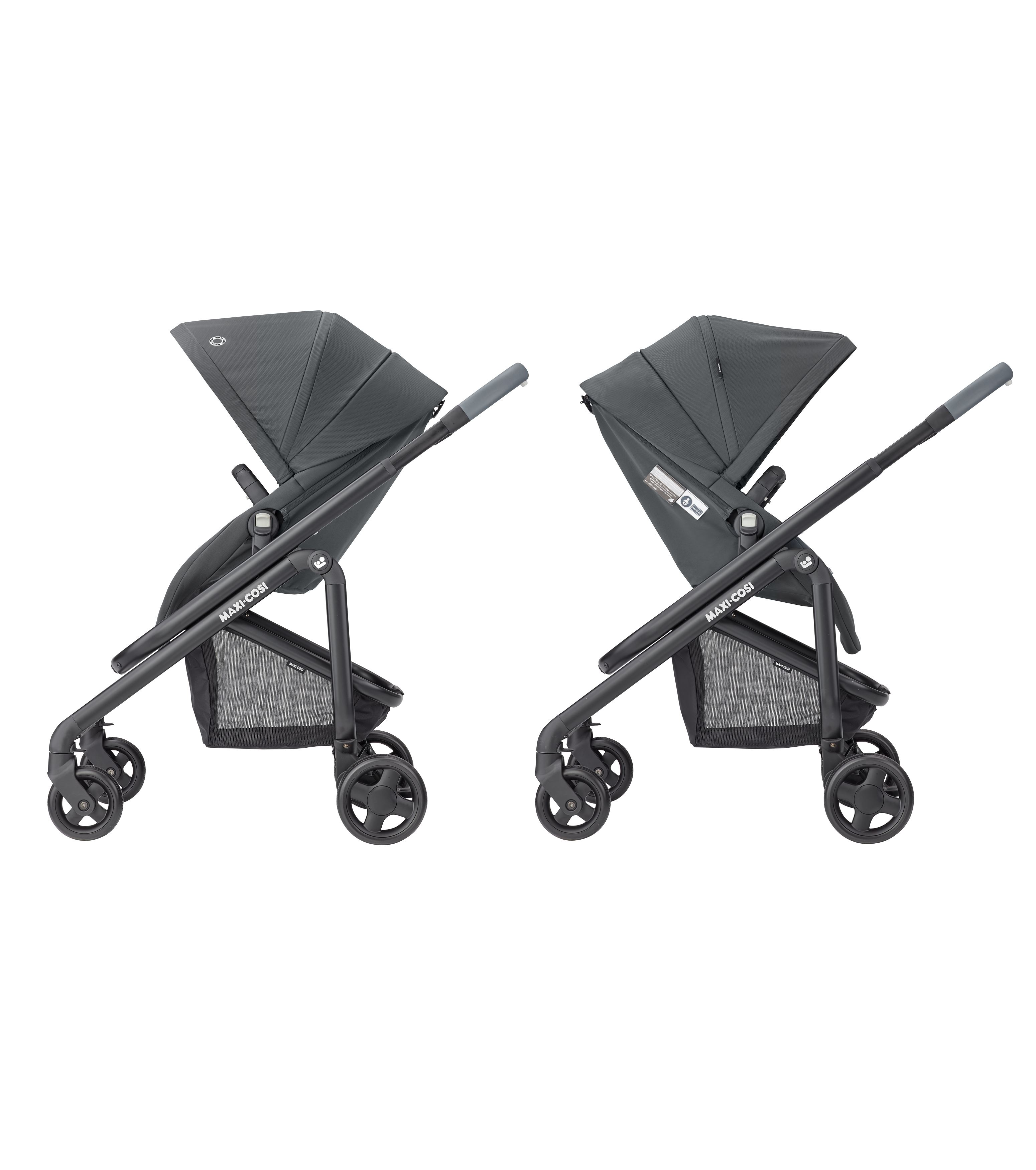 Coche duo LILA SP con capazo ORIA Essential black